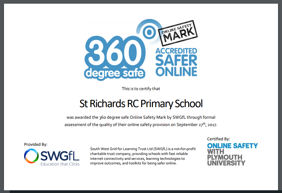 Online Safety Certificate